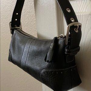 Black coach small shoulder bag